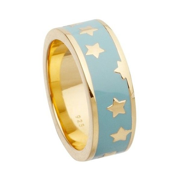 d28298b34 Astley Clarke Colour Star Shower 18ct Gold Vermeil Stacking Ring ($72) ❤  liked on Polyvore featuring jewelry, rings, bracelets, duck egg, astley  clarke ...