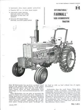 966 Old Tractors International Harvester Ih Antique t