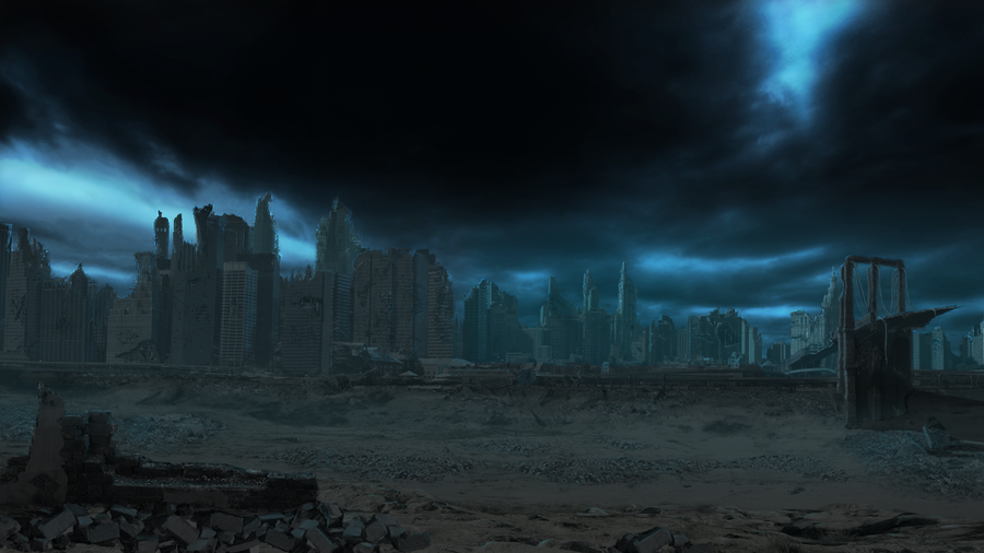 Destroyed City By Danielquigley Deviantart Com City Background City Background