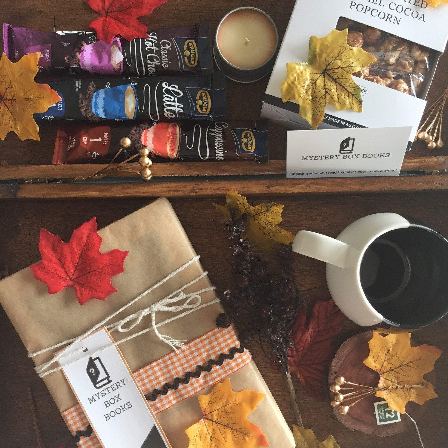 Cuddle up with a great new read, a hot drink in a cute mug, some gourmet snacks and a luscious smelling candle... The Cosy Reader Book Hamper -- spoil yourself or a loved one with this indulgent collection.