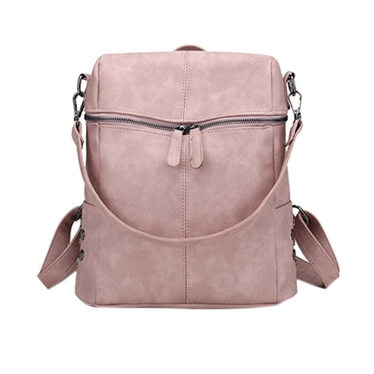 Leather Casual Shoulder Waterproof Zipper Backpack Leather Casual Shoulder Waterproof Zipper Backpack  #Casual #Shoulder #Waterproof #Zipper #Backpack
