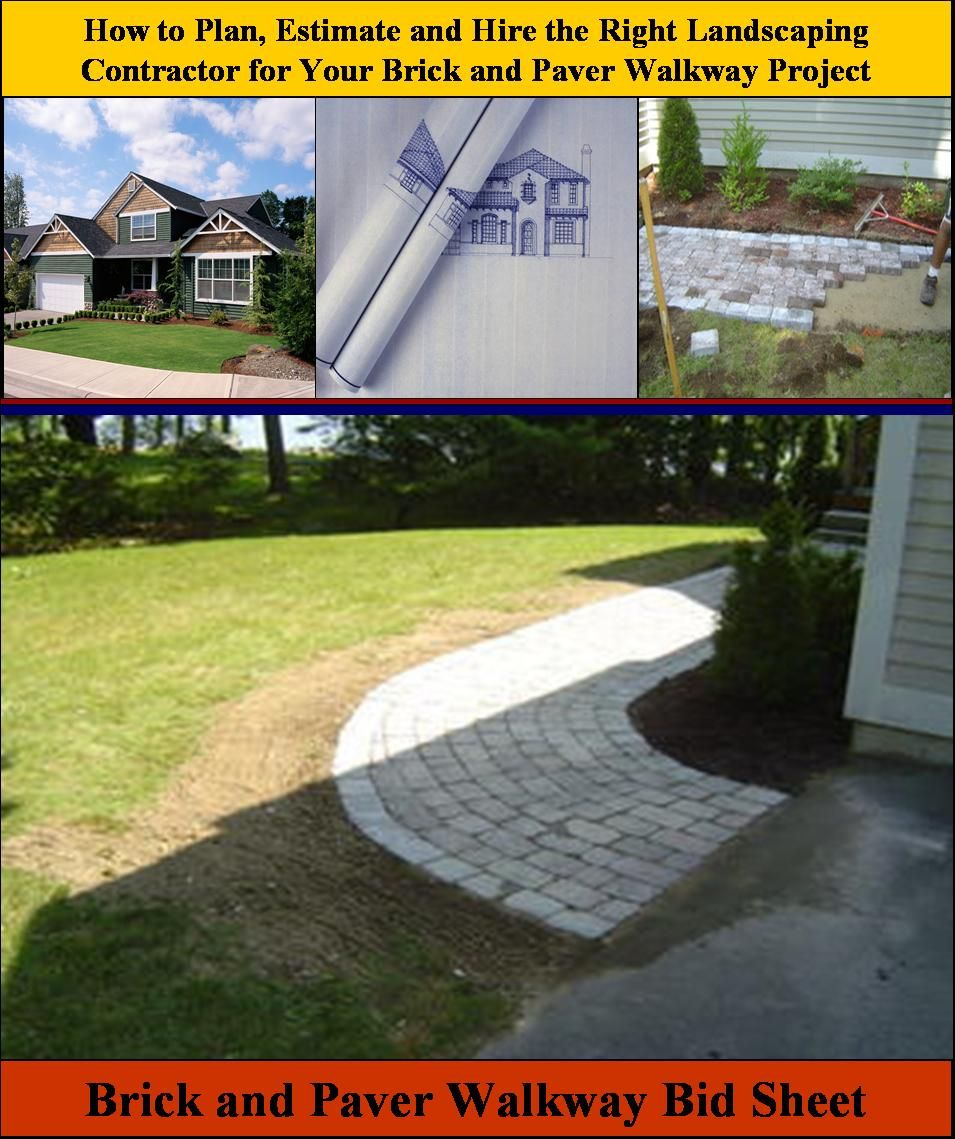 Here is Brick and Paver Walkway Bid Sheet for helping