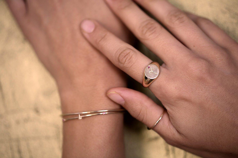 Zodiac Signet Ring Gold - Pisces / 6