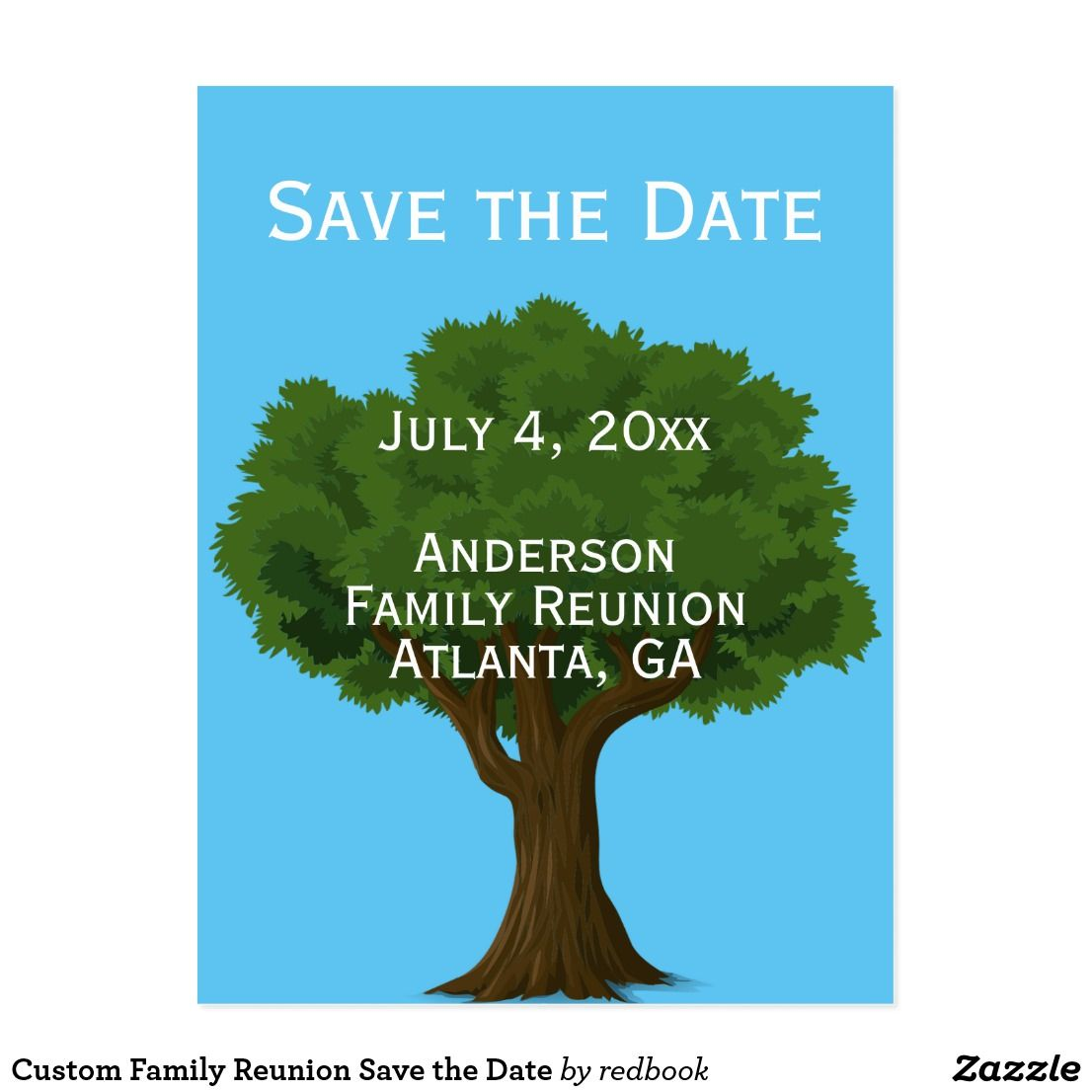 b6a4d40c2 Custom Family Reunion Save the Date Announcement Postcard | Zazzle ...