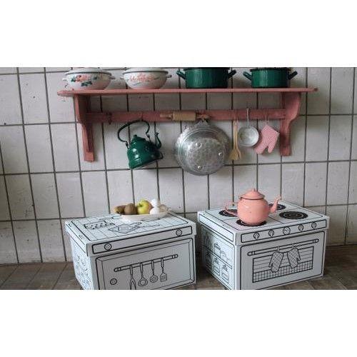 Cocina y cajas cart n para ni os juguetes de madera y - Cajas para cocina ...