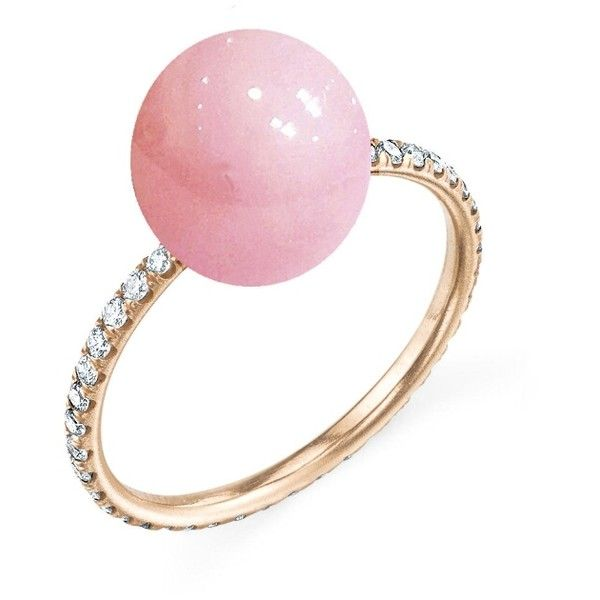 Irene Neuwirth Pink Opal Sphere Ring Rose Gold 3760 liked