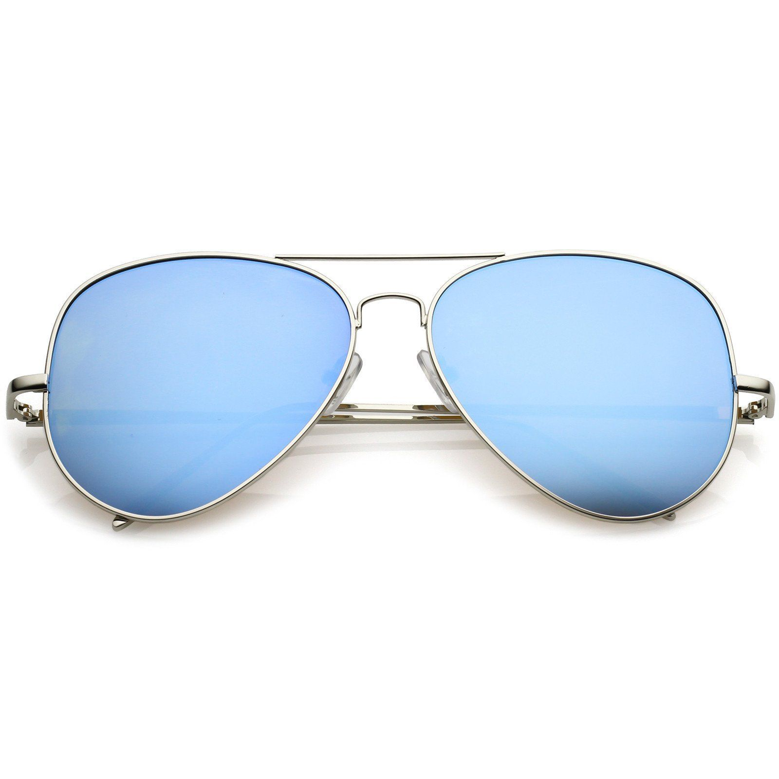 fac20df22a0 Classic Metal Aviator Sunglasses Double Nose Bridge Color Mirror Flat Lens  59mm  sunglass  sunglasses