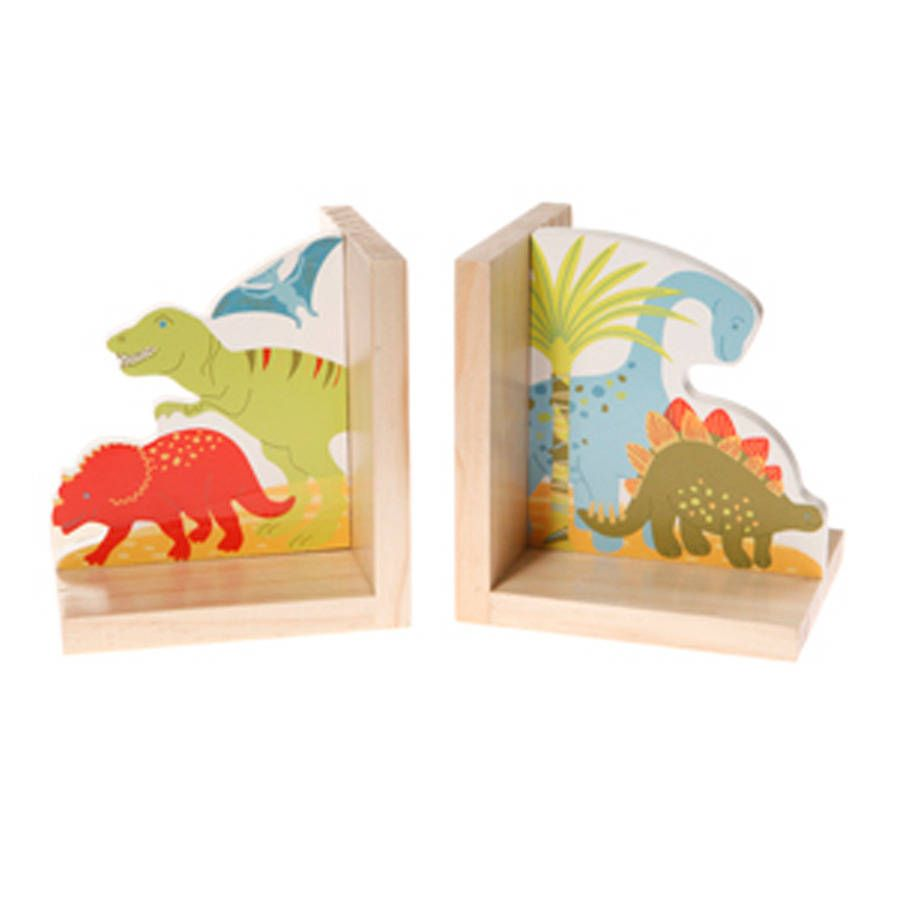 Dinosaur Wooden Bookends