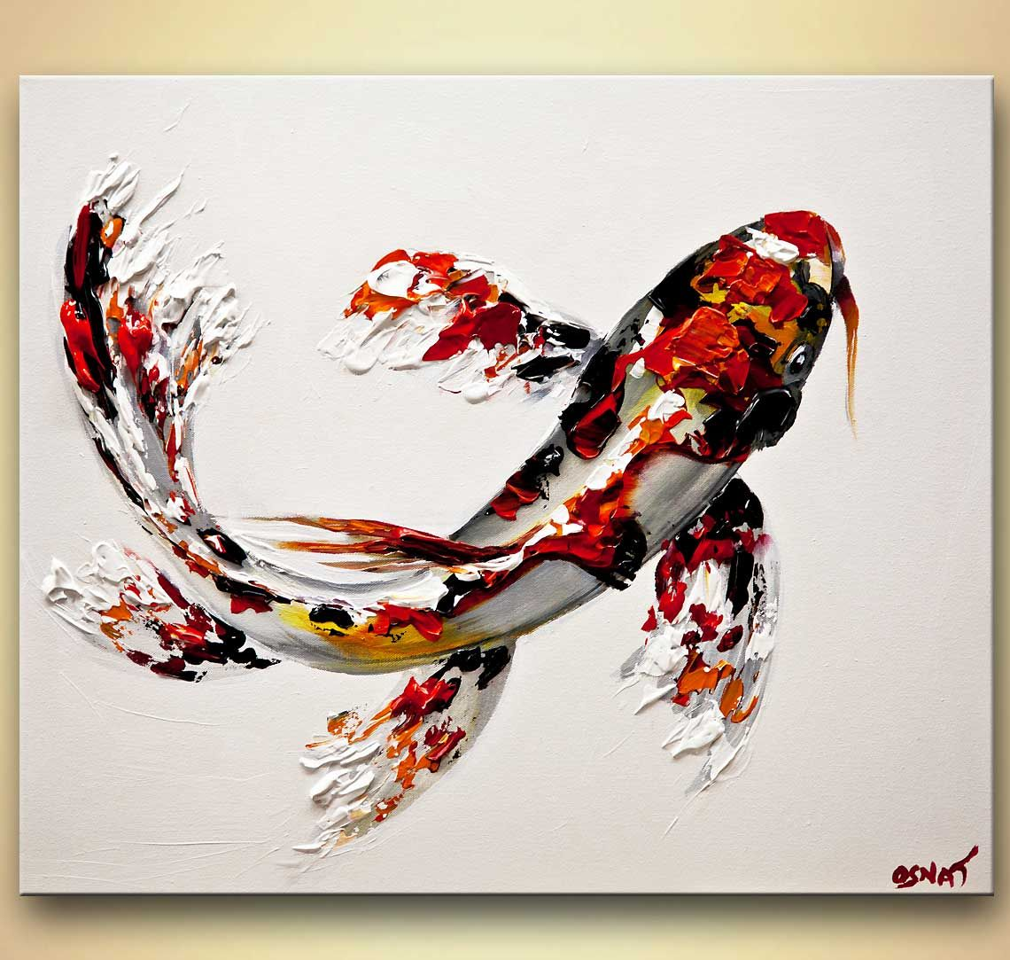 Abstract art by osnat tzadok osnat fine art pinterest for Japanese fish painting