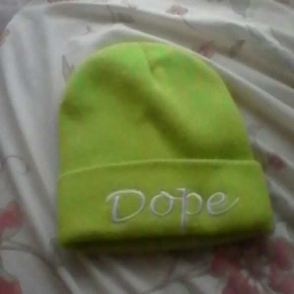 Neon green dope beanie Super cute ! Like new Charlotte Russe Accessories Hats