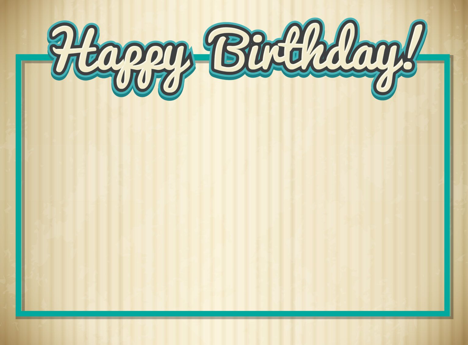 Blank Birthday Card Template - Download Free Vectors with Blank