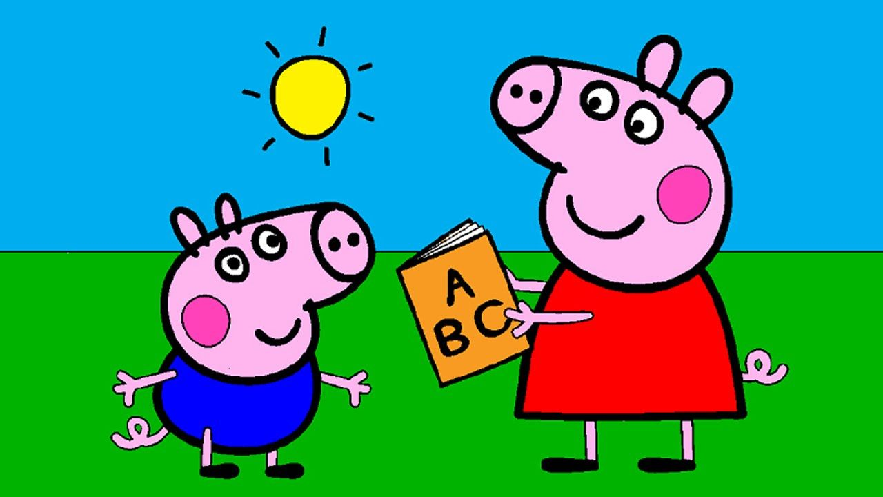 Peppa Pig Coloring Pages for Kids ► Peppa Pig Coloring Games ► Peppa Pig Learn ABC Coloring Book