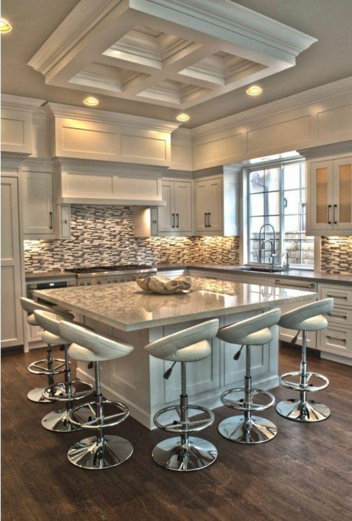 Arbeitsplatte Marmor mit barhocker Moderne Küchen Pinterest - k chentisch aus arbeitsplatte