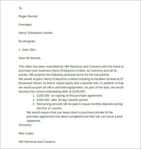 letter of intent asset purchase agreement business sale Try