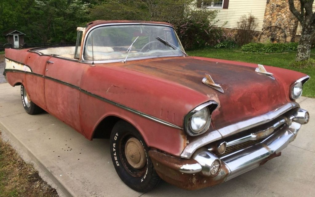 1957 Chevy Convertible For $6,500! | Convertible, Barn finds and Cars