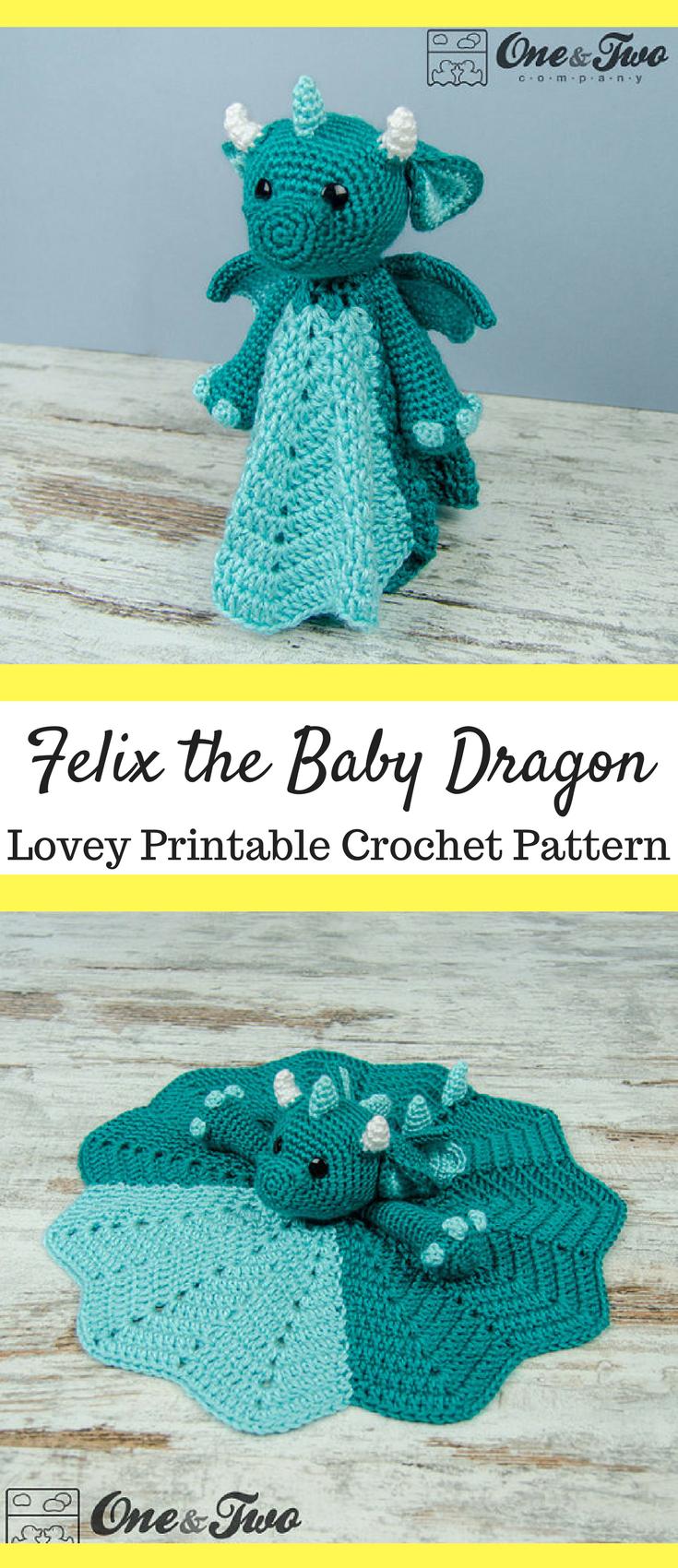 Amigurumi Baby Dragon Crochet Pattern Video Tutorial | 1700x735