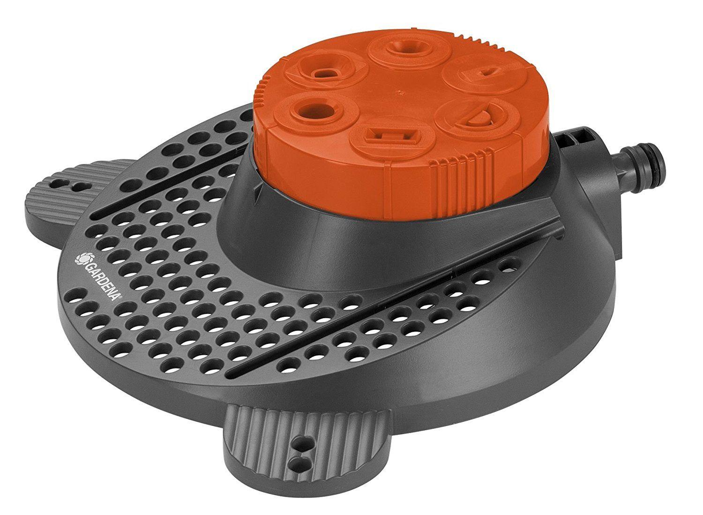 Gardena 02073 20 Classic Boogie 6 Pattern Sprinkler Grey Orange Sprinkler Oscillating Sprinkler Gardena