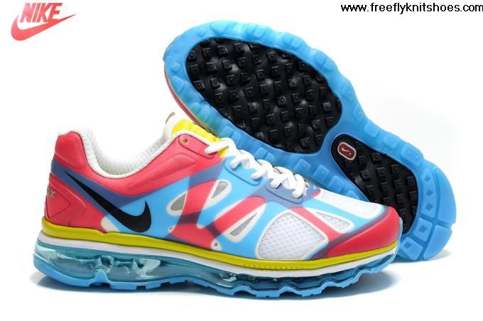 blanc bleu rouge jaune nike air max 2012 femmes for sale