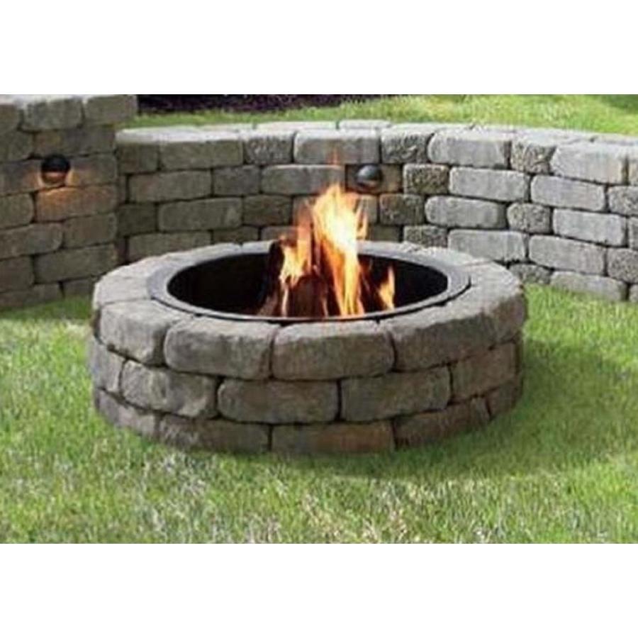 43 5 In W X 43 5 In L Veranda Concrete Firepit Kit At