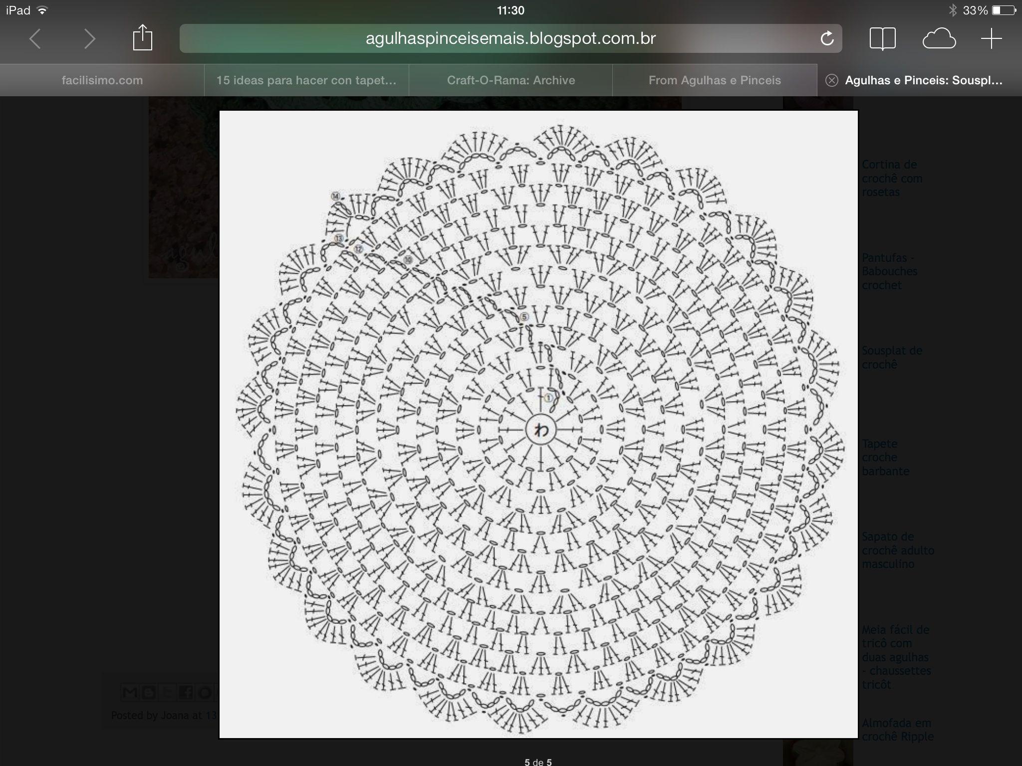 Roseton   Crochet   Pinterest
