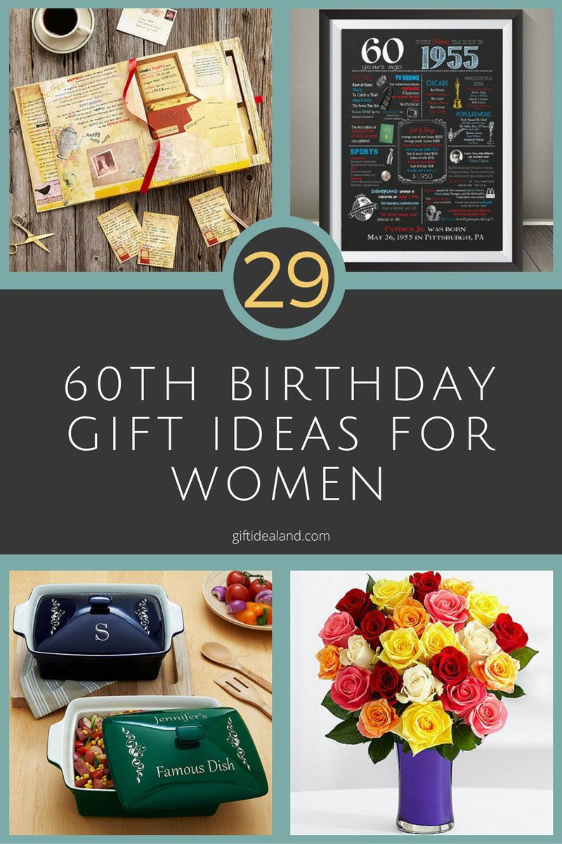 29 great 60th birthday gift ideas for her | gifts for women