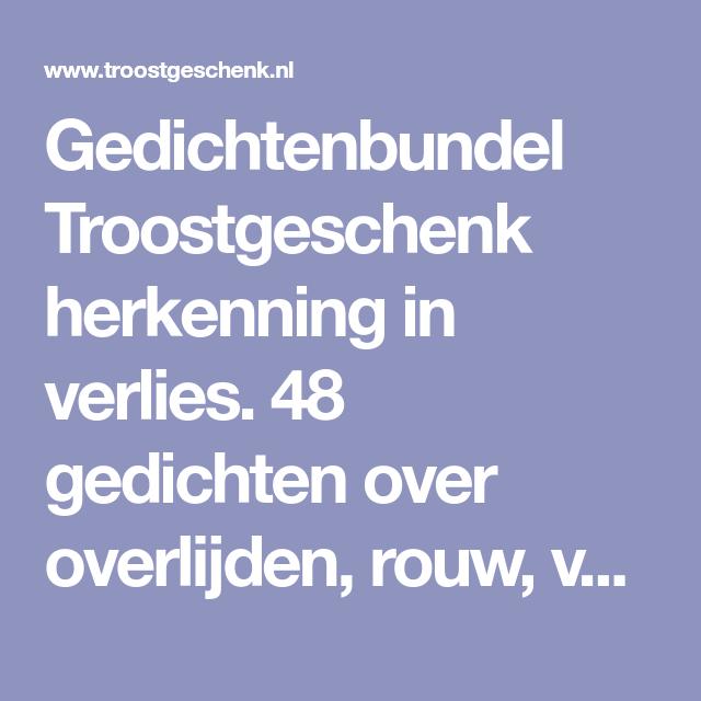 Gedichtenbundel Troostgeschenk Herkenning In Verlies 48