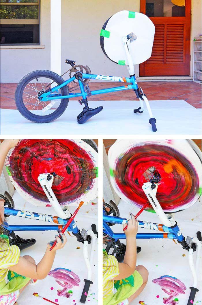 Action Art Spin Art Using A Bike Babble Dabble Do