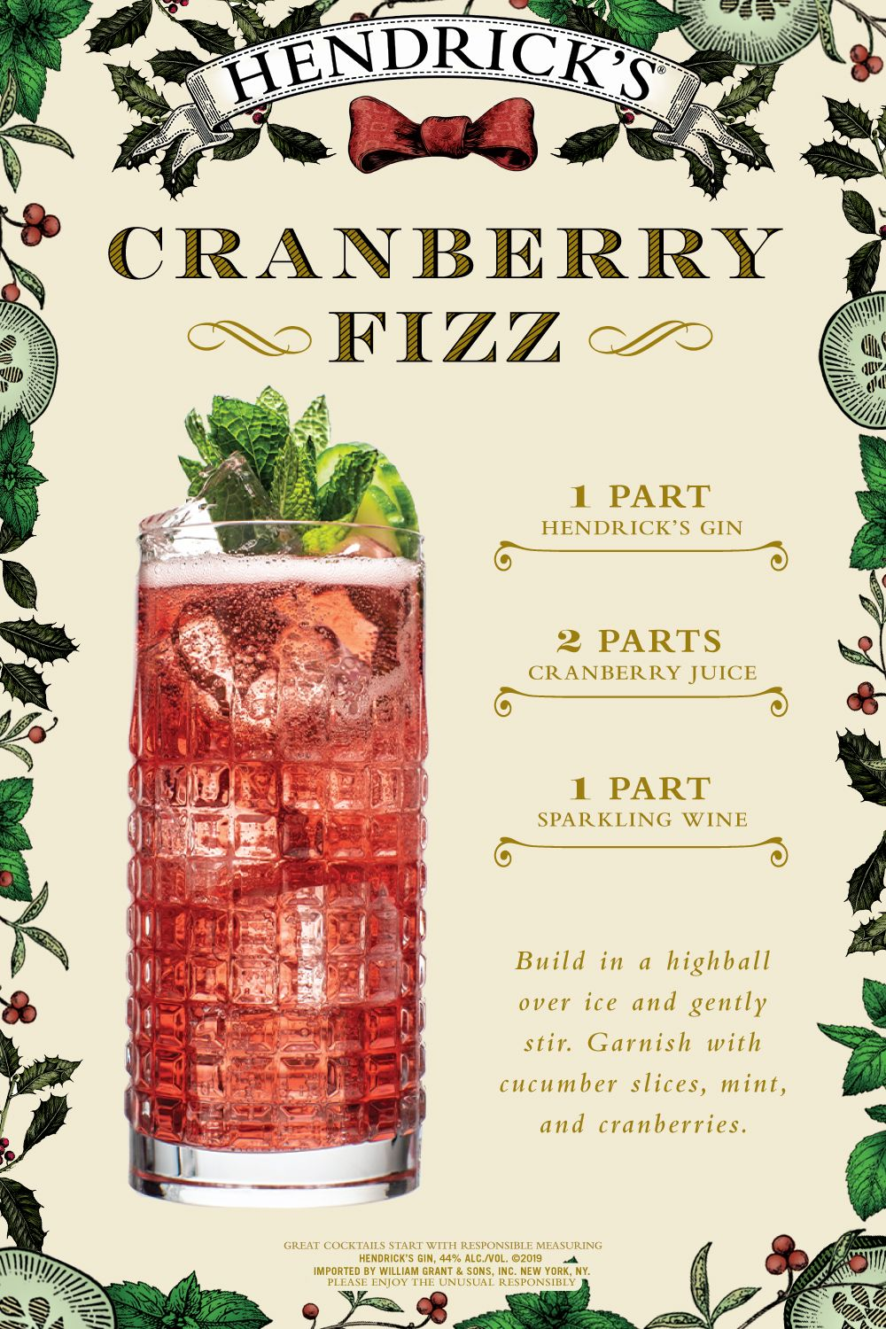 Cranberry Fizz Recipe Cranberry Fizz Drinks Alcohol Recipes Mixed Drinks Recipes