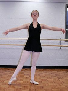 d0f2e61be15e9 Tendu to the side (tendu- to stretch) | Ballet + Yoga | Ballet class ...