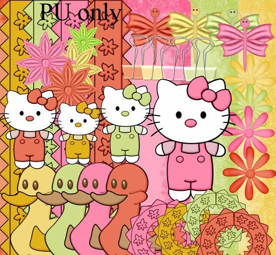 Free Digital Scrapbook Kits Free Scrap Kit Kitty Baby Collection