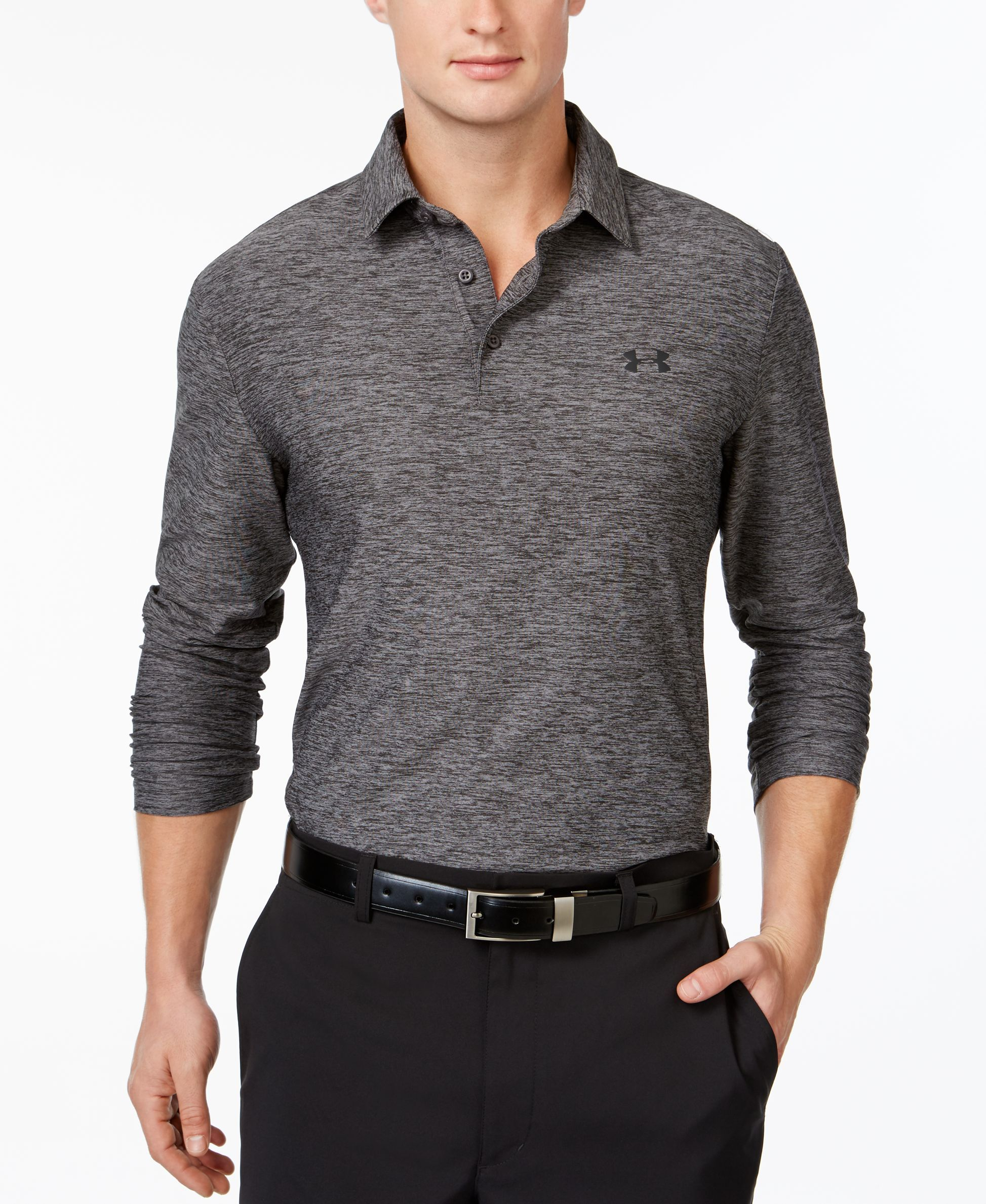 Under Armour Captains Choice Long Sleeve Golf Polo Products In