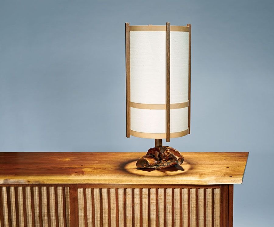 Table lamp (executed 1978), George Nakashima, Edmund J. Bennett Collection