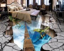 Fototapete Benutzerdefinierte Boden Tapete 3d Stereoskopische Bodenbelag Magie Drachen Pvc Selbstklebende Tape Bodenbelag Laminatfussboden Selbstklebende Tapete