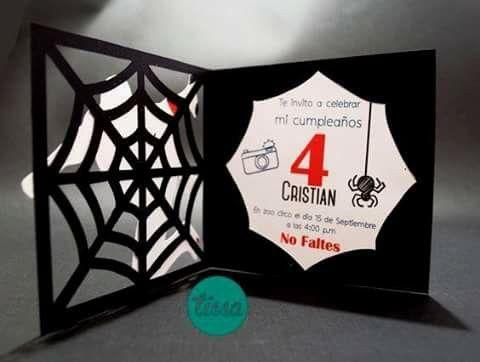 Tarjeta Cumpleaños Spiderman Invitaciones Hombre Araña Y