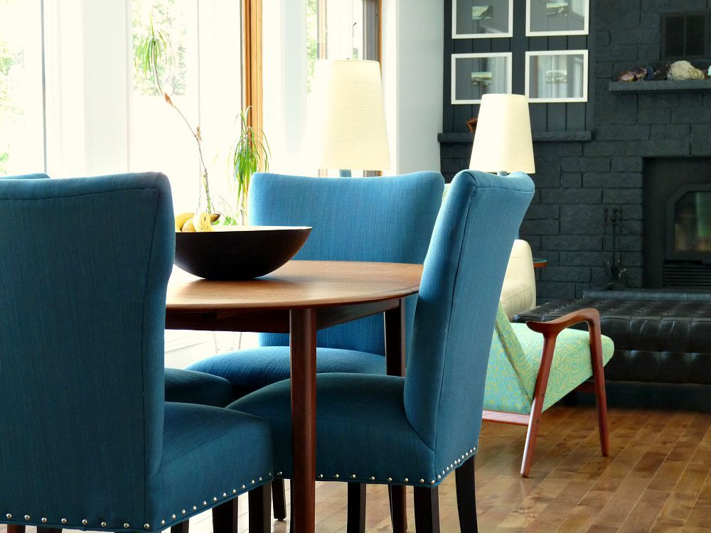 Dark Teal Dining Chairs
