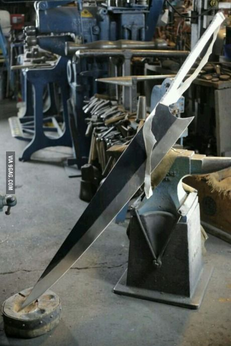 So I went to a blacksmith today and I saw this