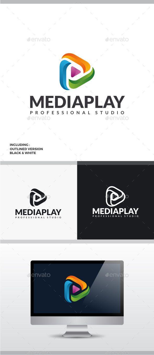 Media Play Logo Text fonts Logo templates and Logos