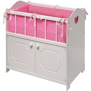 4af3260565ec Badger Basket White Storage Doll Crib with Bedding   walmart.com for  34.97