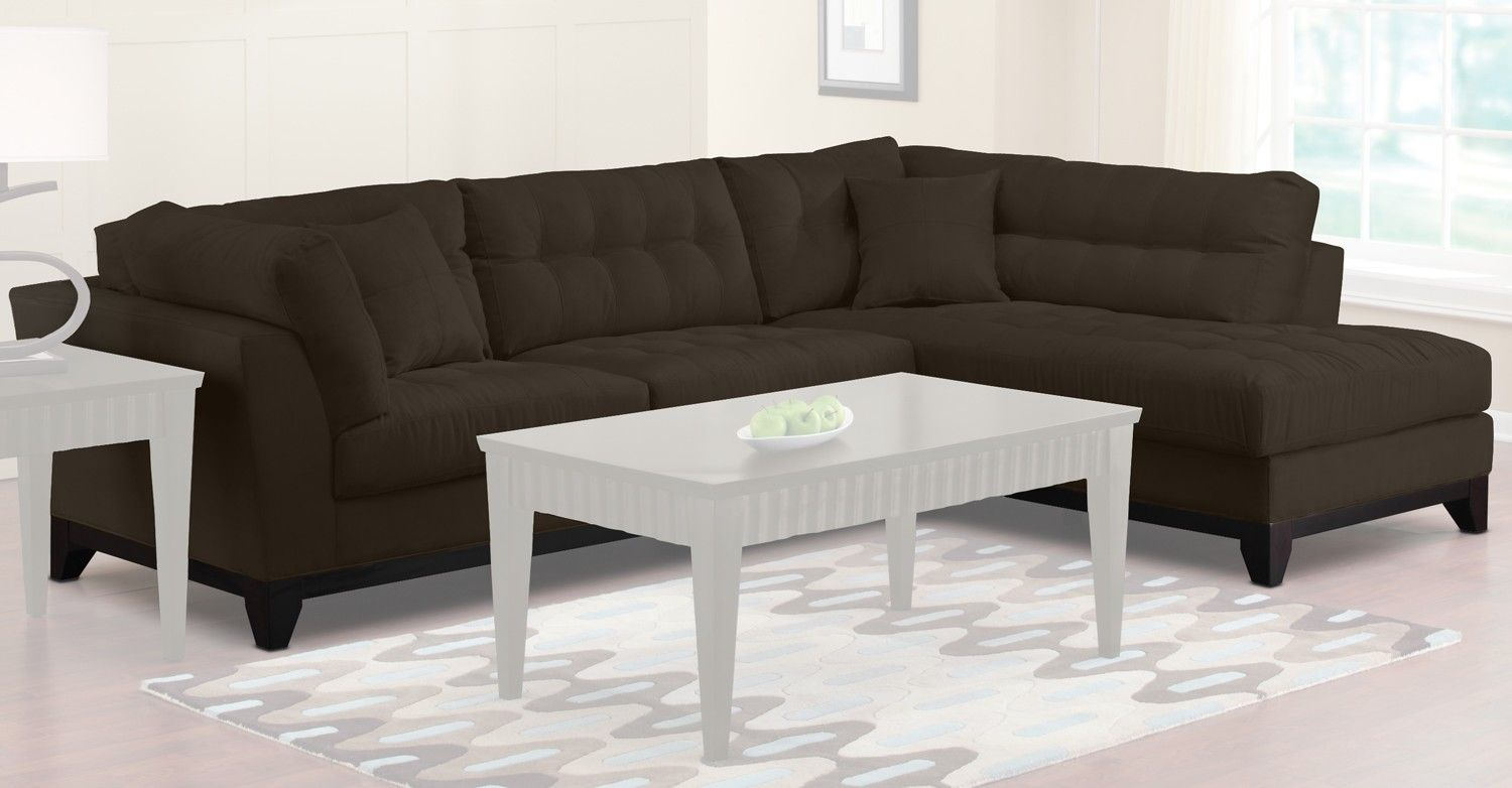 Theroomplace Com Uptown V Sectional Upholstery 2 Pc Sectional