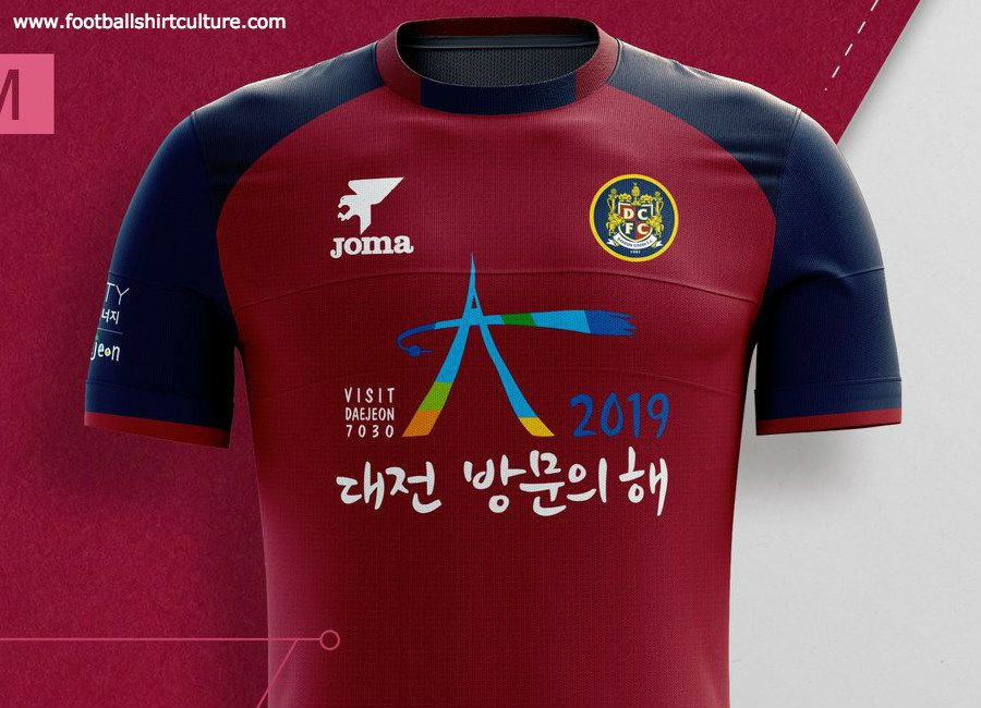 Daejeon Citizen 2019 Joma Home and Away Kits  DaejeonCitizen  kleague   DaejeonFC 812dc2918