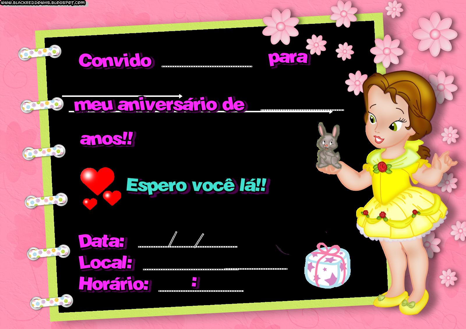 convite de aniversario | Convites de Aniversario: Modelos para Imprimir e Como Fazer | Globo ...