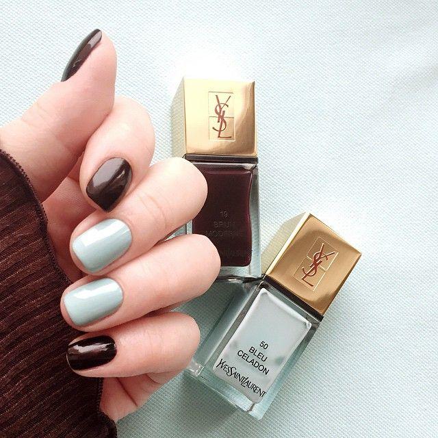 YSL Brun Moderne 19 & Bleu Celadon 50