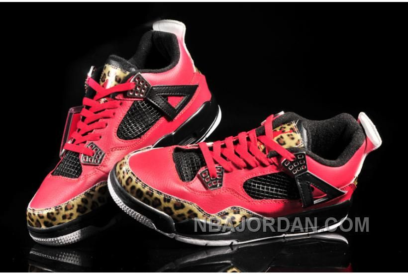 Limited Nike Air Jordan 4 Mens Fish Pattern in Red Leopard and Black, cheap  Jordan If you want to look Limited Nike Air Jordan 4 Mens Fish Pattern in  Red ...