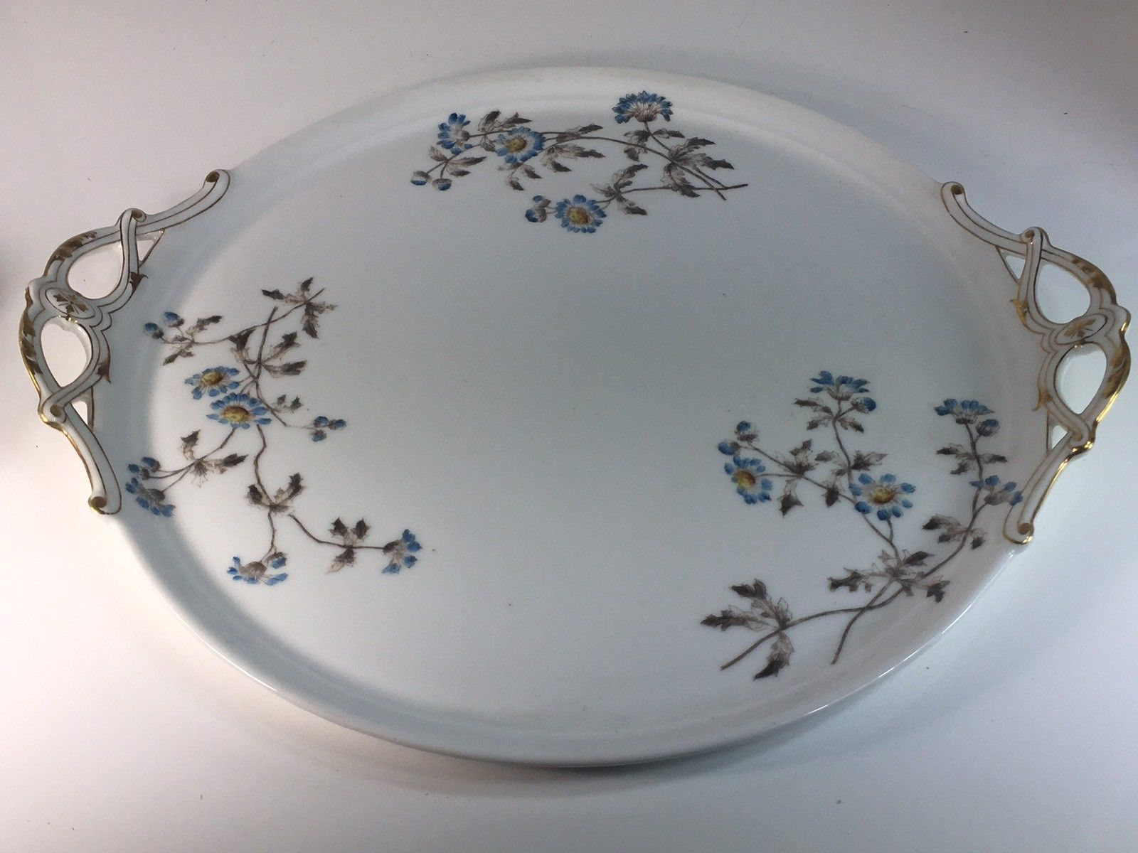 One of the plate has a hairline but we think it's extra set anyway as most of Limoges set come with 5 sets only so it doesn't really hurt. The Tray is huge and heavy. All stamped all original set belong to each other. | eBay!