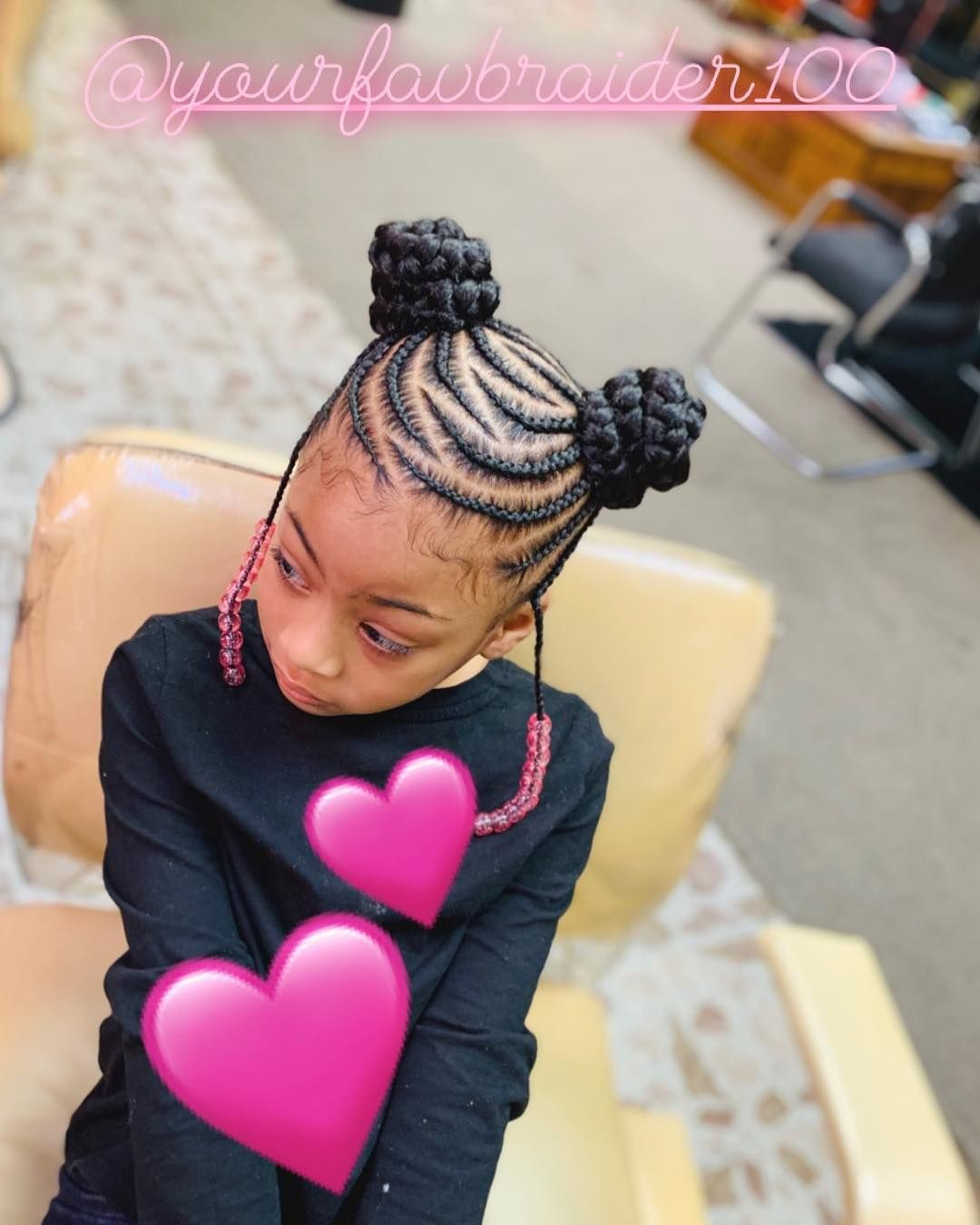 Image May Contain One Or More People Girls Cornrow Hairstyles Toddler Hairstyles Girl Braids For Kids