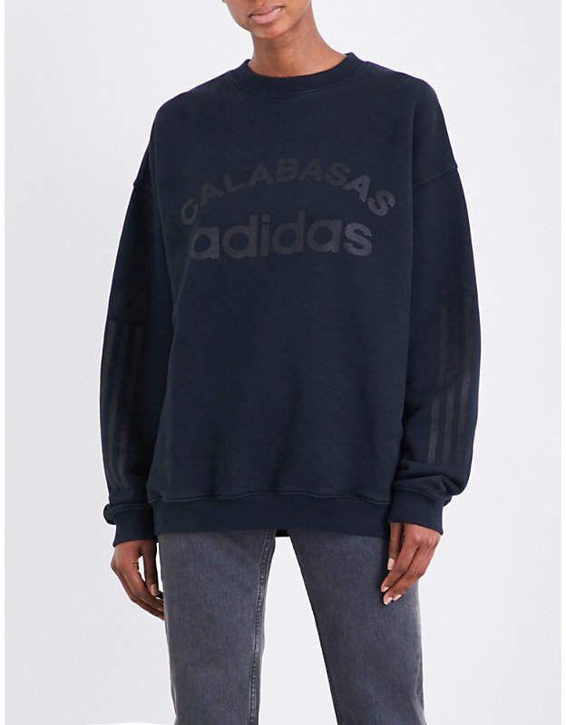 Yeezy Blue Season 5 Calabasas Adidas Cotton jersey Sweatshirt