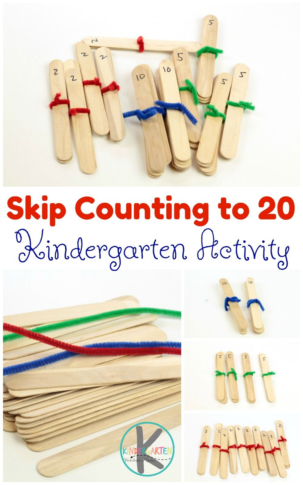 Craft Stick Skip Counting is a fun, hands on math activity that ...