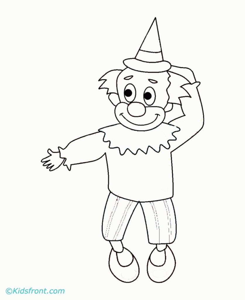 The Smiling Joker Online Coloring Sheet Free For Kids | Fun Coloring ...