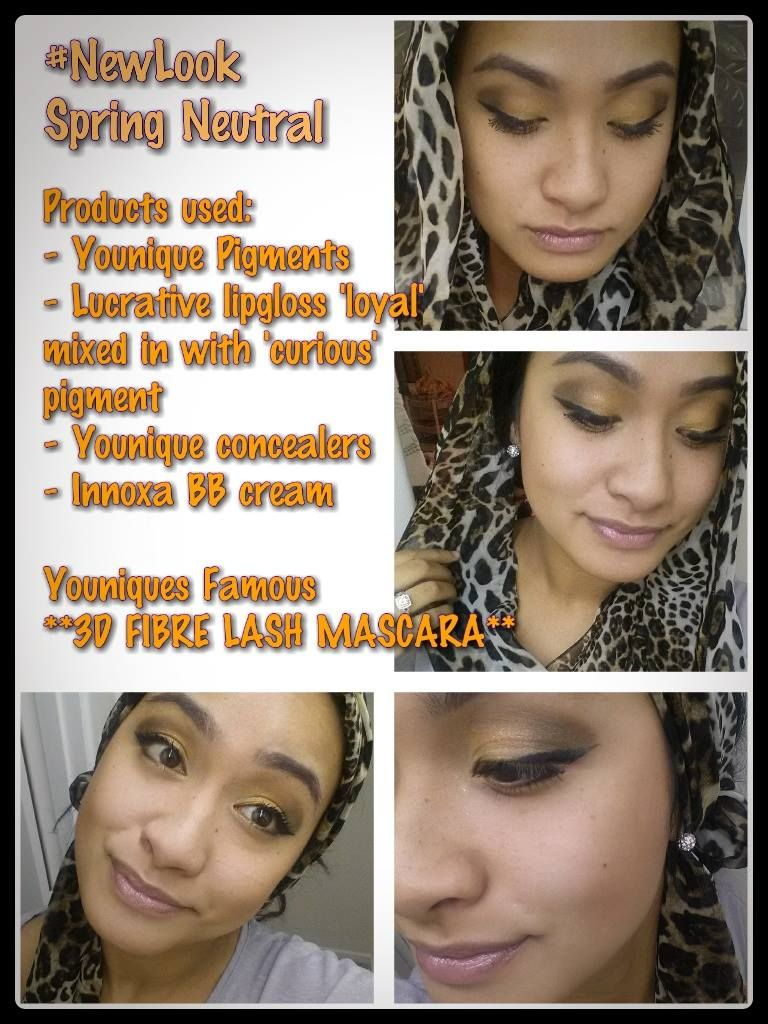 My Neutral Spring 2014 look using Younique Mineral Products. Pigments/Mineral Products available for purchase. Ask for more :)