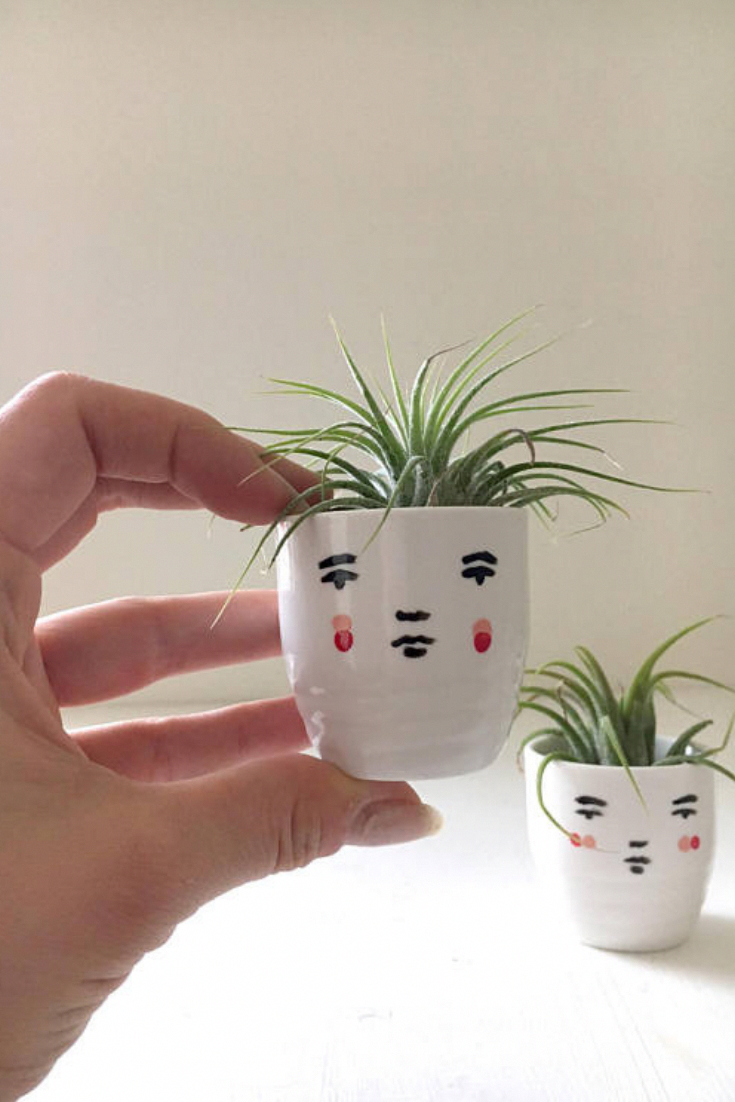These little planters are perfect for an office, bedroom, windowsill, living room, bathroom, any little spot you want a bit of personality and greenery. Each planter comes with its own unique air plant! #arborarmy #indiehome #bohohome (Indie Garden Ideas Boho Garden Ideas Bohemian Gypsy Garden Decor Boho Home Decor Decoration Indie Home Decor Plants Budget Boho Home Decor Contemporary Boho Home Decor Eclectic Boho Home Decor Bohemian Style  Indie Home Shop #bohodecor #bohemianbedrooms